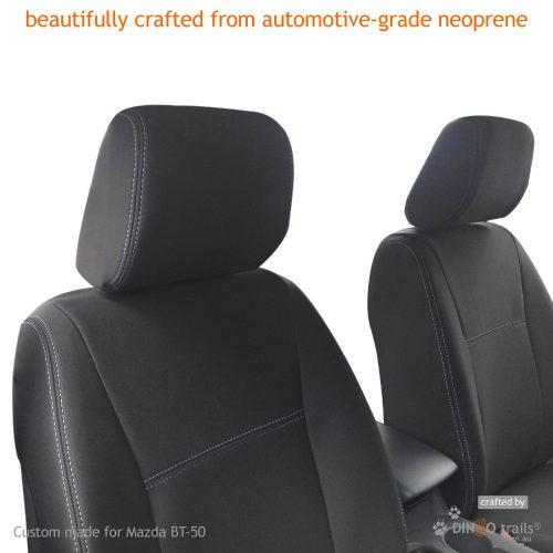 Custom Fit, waterproof, neoprene Mazda BT FRONT Seat Covers.