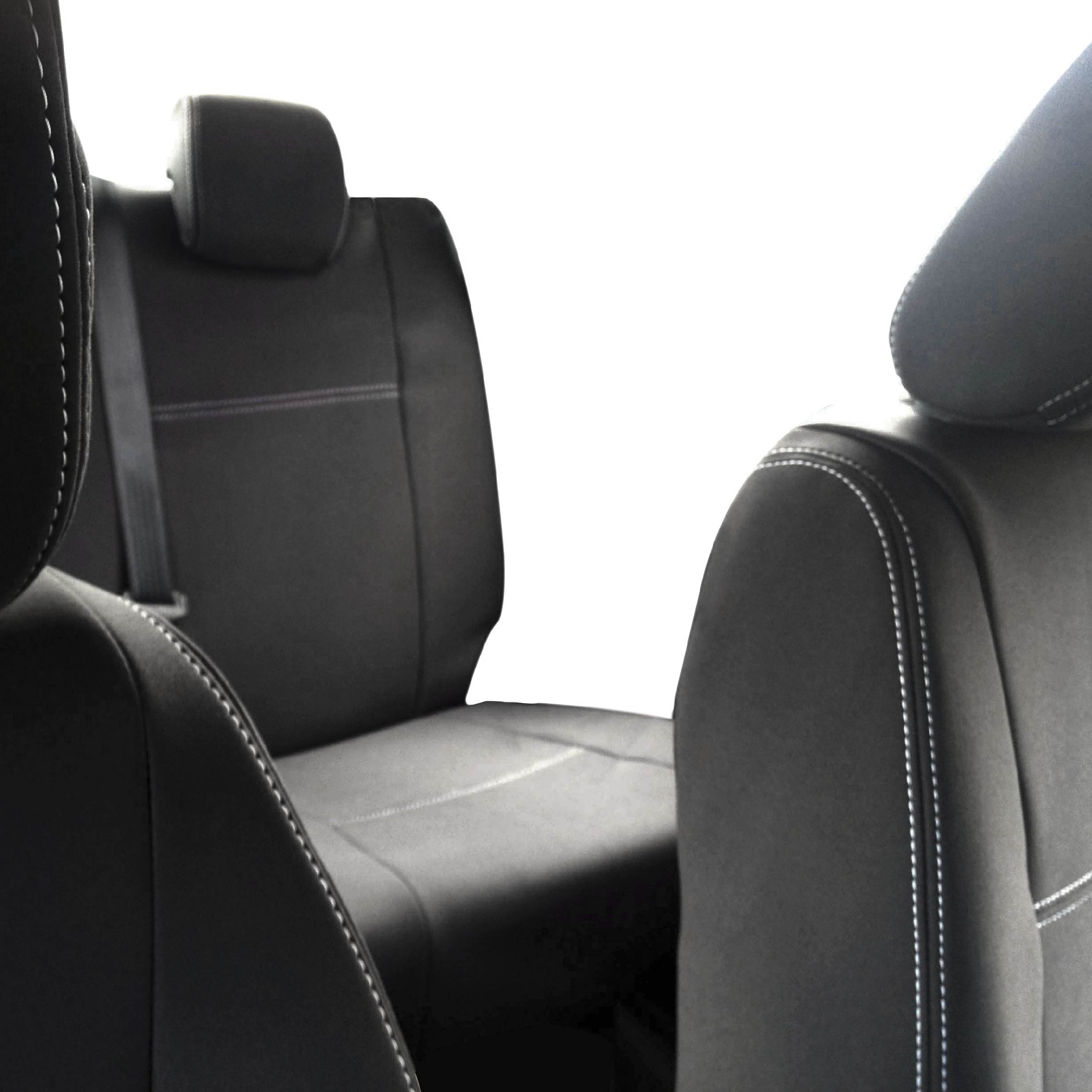 Heavy Duty Black Waterproof Car Seat Covers 2 x Fronts FOR Ford Edge