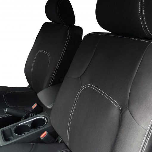 Custom Fit, Waterproof, Neoprene Nissan Navara D40 FULL-BACK Front Seat Covers with Map Pockets.