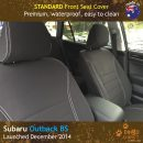 Custom Fit, waterproof, Neoprene Subaru Outback BS FRONT Seat Covers.