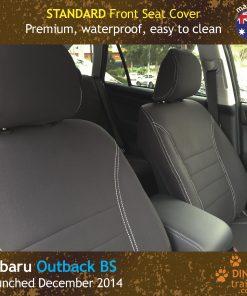 Custom Fit, waterproof, Neoprene Subaru Outback BS FRONT Seat Covers.