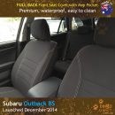 Neoprene FULL-BACK Front Seat Covers + Map Pockets for Subaru Outback BS