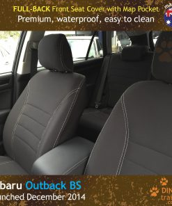 Custom Fit, waterproof, Neoprene Subaru Outback BS FULL-BACK Front Seat Covers.