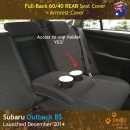 Neoprene REAR Seat Cover + Armrest Cover for Subaru Outback BS