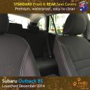 Custom Fit, waterproof, Neoprene Subaru Outback BS FRONT & REAR Seat Covers.