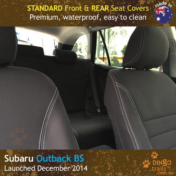Neoprene FRONT & REAR Seat Covers + Armrest Cover For Subaru Outback BS