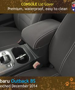Custom Fit, waterproof, Neoprene Subaru Outback BS CONSOLE Lid Cover.