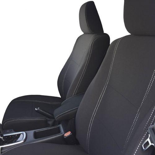 Custom Fit, waterproof, Neoprene Toyota Hilux MK.8 SR SR5, FULL-BACK Front Seat Covers.