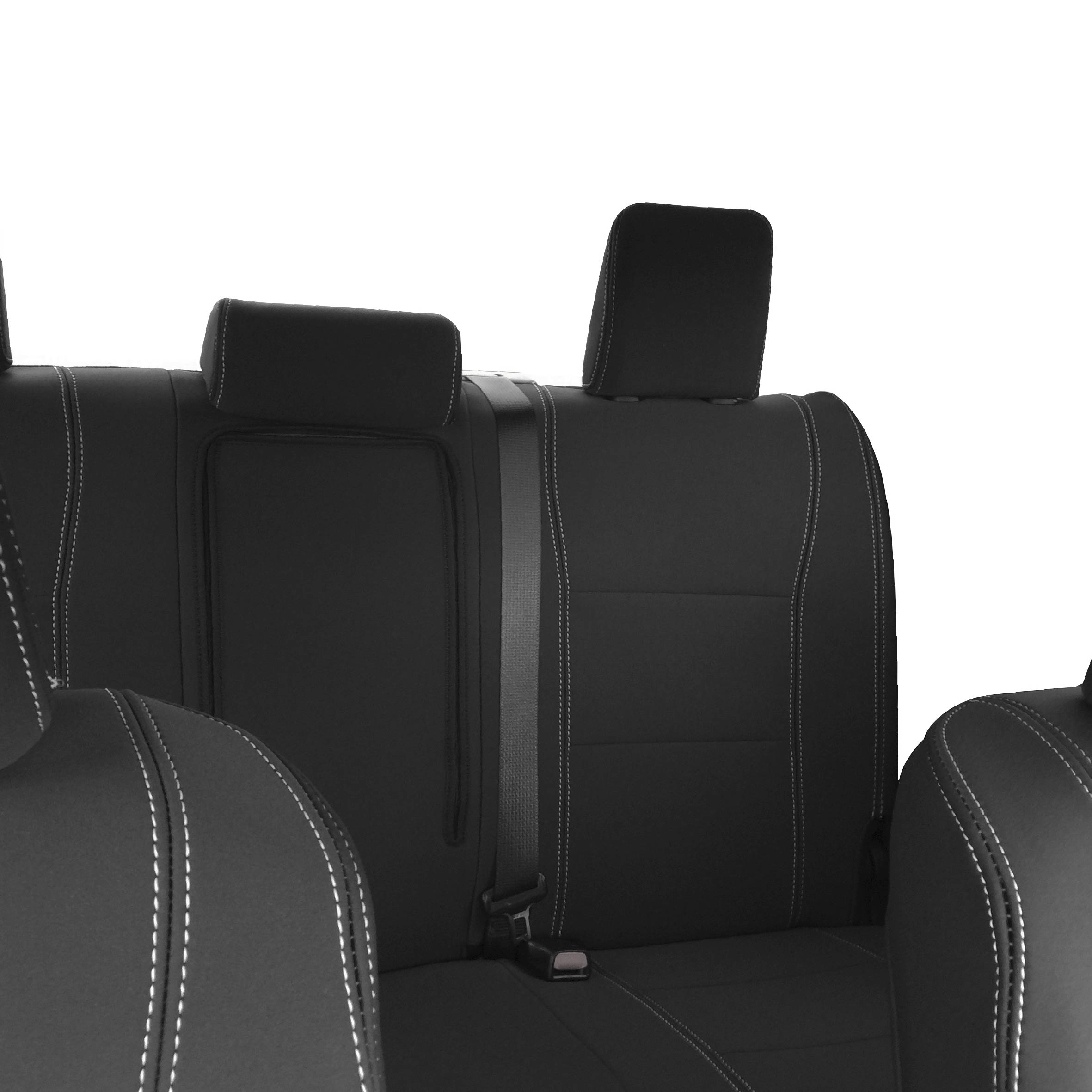 FORD GRAND C-MAX 10-ON HEAVY DUTY BLACK REAR WATERPROOF SEAT COVER