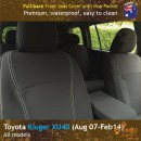 Custom Fit, Waterproof, Neoprene Toyota Kluger XU40 FULL-BACK Front & Rear Seat Covers.