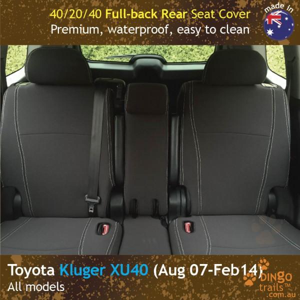 dingotrails.com.au Toyota Kluger XU40 Neoprene Seat Covers (TK07)k-01