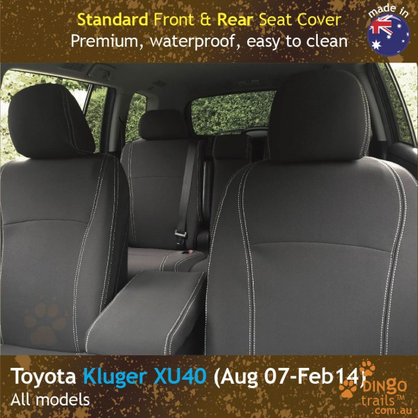 Neoprene FRONT & REAR Seat Covers for Toyota Kluger XU40