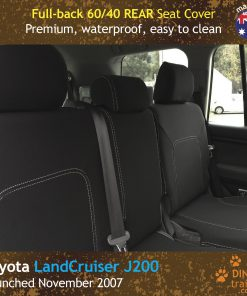 Custom Fit, Waterproof, Neoprene Toyota Landcruiser J200 - GX GXL REAR Seat Cover.