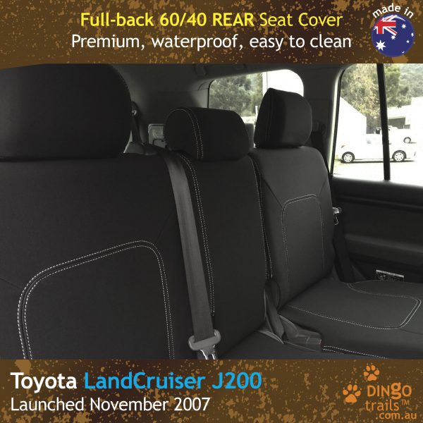 Neoprene REAR Seat Cover for Toyota Landcruiser J200 – GX GXL