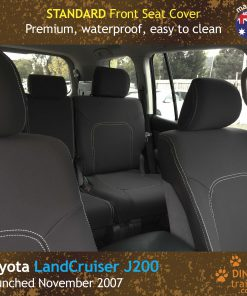 Custom Fit, Waterproof, Neoprene Toyota LandCruiser J200- GX GXL, MK.I & II, VX Altitude & Sahara FRONT Seat Covers.
