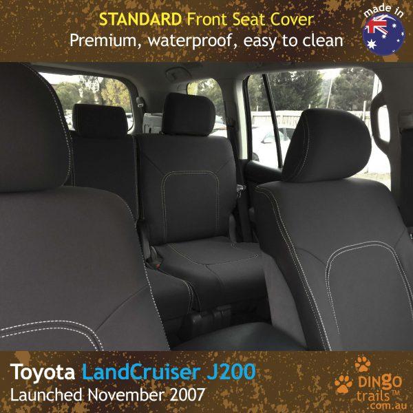 Neoprene FRONT Seat Covers for Toyota LandCruiser J200- GX GXL,MK.I & II, VX Altitude & Sahara
