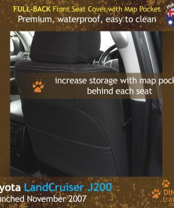 Custom Fit, Waterproof, Neoprene Toyota LandCruiser J200 - GX GXL FULL-BACK Front Seat Covers.