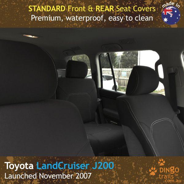 Neoprene FRONT & REAR Seat Covers for Toyota Landcruiser J200 – GX GXL