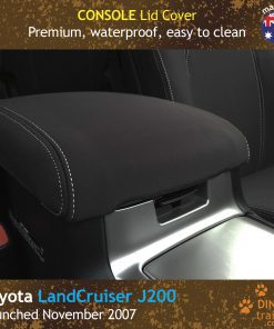 Custom Fit, Waterproof, Neoprene Toyota Landcruiser J200 - GX GXL CONSOLE Lid Cover