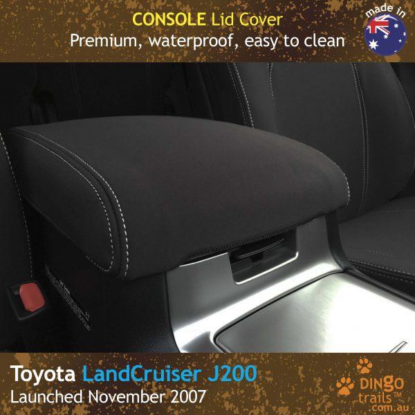 Neoprene CONSOLE Lid Cover for Toyota Landcruiser J200 – GX GXL