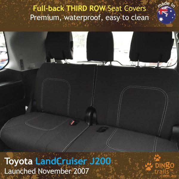 Neoprene Full-back THIRD ROW Seat Covers for Toyota Landcruiser J200 – GX GXL