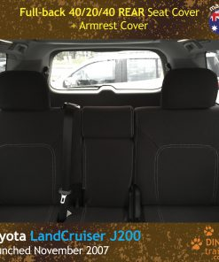 Custom Fit, Waterproof, Neoprene Toyota Landcruiser J200, MK.I & II, VX Altitude & Sahara REAR Seat Cover.