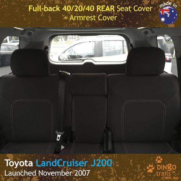 Neoprene REAR Seat Cover for Toyota Landcruiser J200, MK.I & II, VX Altitude & Sahara