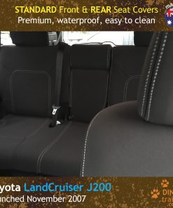 Custom Fit, Waterproof, Neoprene Toyota Landcruiser J200, MK.I & II, VX Altitude & Sahara FRONT & REAR Seat Covers.