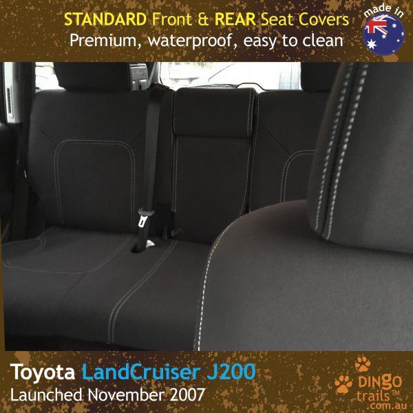 Neoprene FRONT & REAR Seat Covers for Toyota Landcruiser J200, MK.I & II, VX Altitude & Sahara