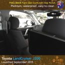 Neoprene FULL-BACK Front Seat Covers + Map Pockets Toyota Landcruiser J200 MK.III – Sahara