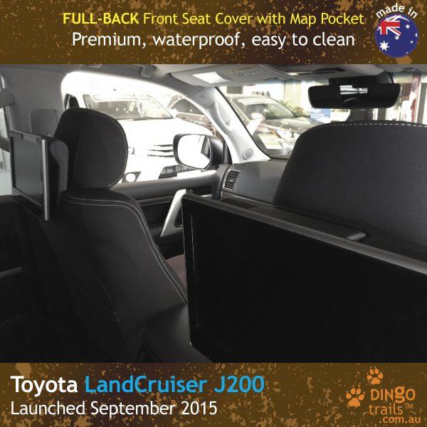 Neoprene FULL-BACK Front Seat Covers + Map Pockets Toyota Landcruiser J200 MK.III – Sahara