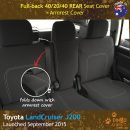 Custom Fit, Waterproof, Neoprene Toyota Landcruiser J200 MK.III - VX Altitude REAR Seat Cover.