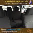 Custom Fit, Waterproof, Neoprene Toyota Landcruiser J200 MK.III - VX Altitude FRONT & REAR Seat Covers.