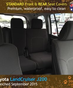 Custom Fit, Waterproof, Neoprene Toyota Landcruiser J200 MK.III - VX Altitude FRONT & REAR Seat Covers.