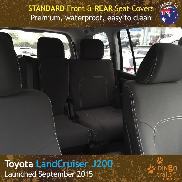 Neoprene FRONT & REAR Seat Covers for Toyota Landcruiser J200 MK.III – VX Altitude