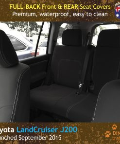 Custom Fit, Waterproof, Neoprene Toyota Landcruiser J200 MK.III - VX Altitude FULL-BACK Front & REAR Seat Covers.