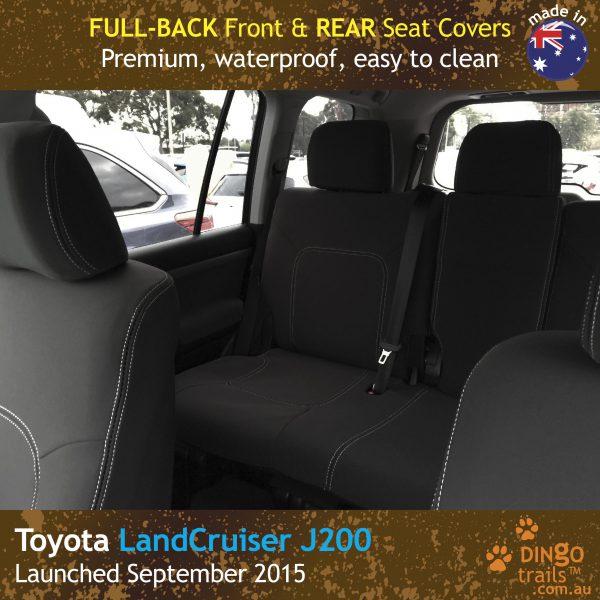 Neoprene FULL-BACK Front & REAR Seat Covers for Toyota Landcruiser J200 MK.III – VX Altitude