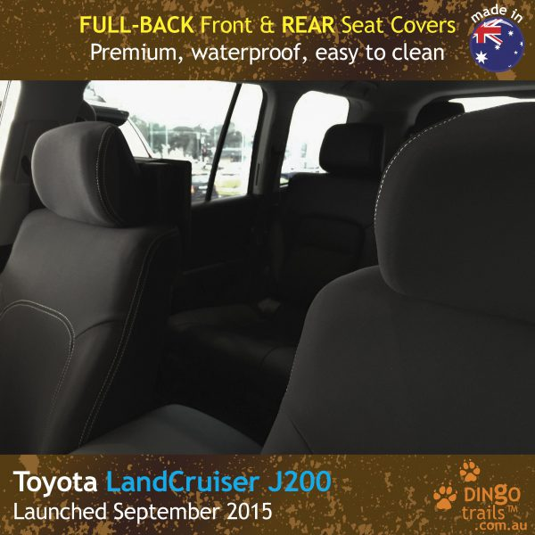 Neoprene FULL-BACK Front & REAR Seat Covers for Toyota Landcruiser J200 MK.III – Sahara