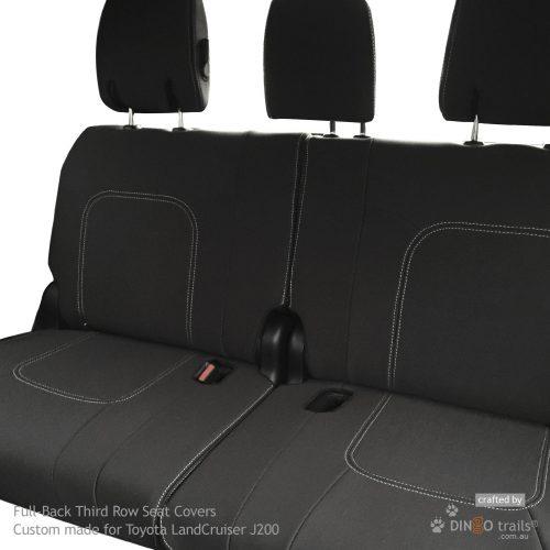 Custom Fit, Waterproof, Neoprene Toyota Landcruiser J200 - GX GXL Full-back THIRD ROW Seat Covers.