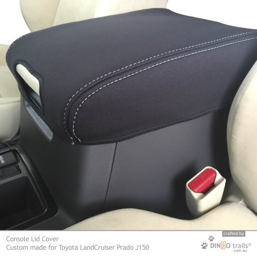 Custom Fit, Waterproof, Neoprene Toyota Prado J150 CONSOLE Lid Cover.