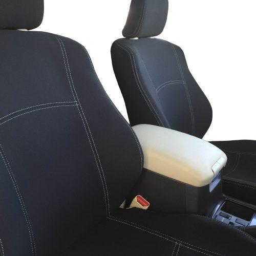Custom Fit, Waterproof, Neoprene Toyota Prado J150 FULL-BACK Front Seat Covers.