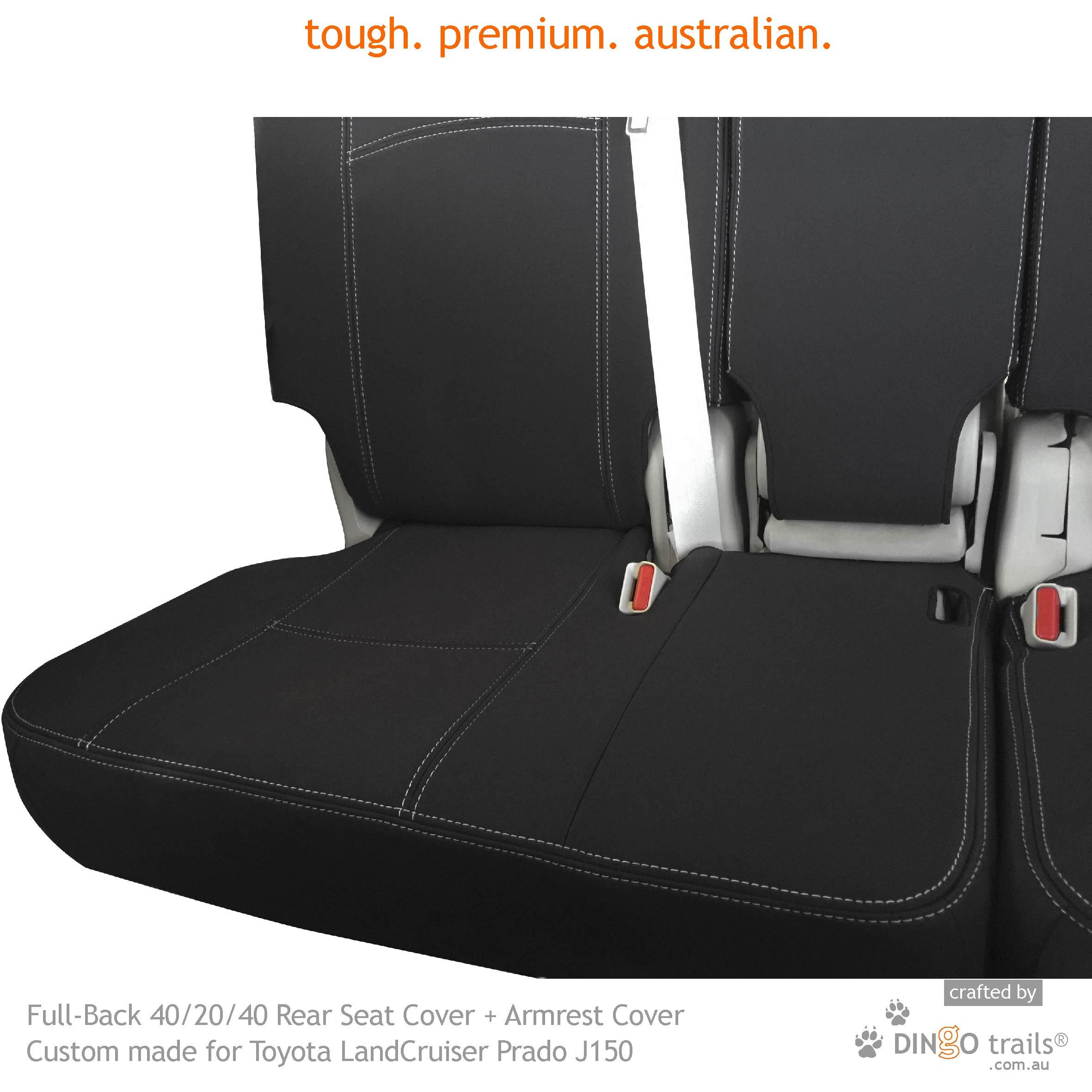 ISUZU D MAX WATERPROOF HEAVY DUTY REAR SEAT COVERS BLACK 130 HD