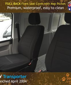 Custom Fit, Waterproof, Neoprene Volkswagen Transporter T5, T6 FULL-BACK Front Seat Covers.
