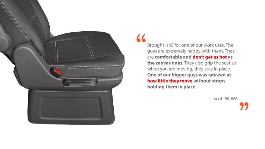 neoprene car seat covers - Automotive Grade Neoprene - Testimonial