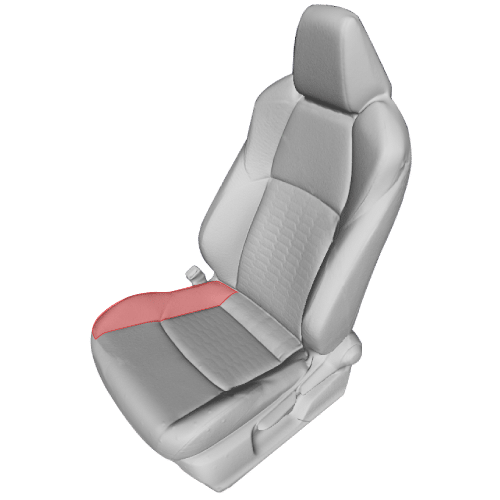 car seat covers - 3D render