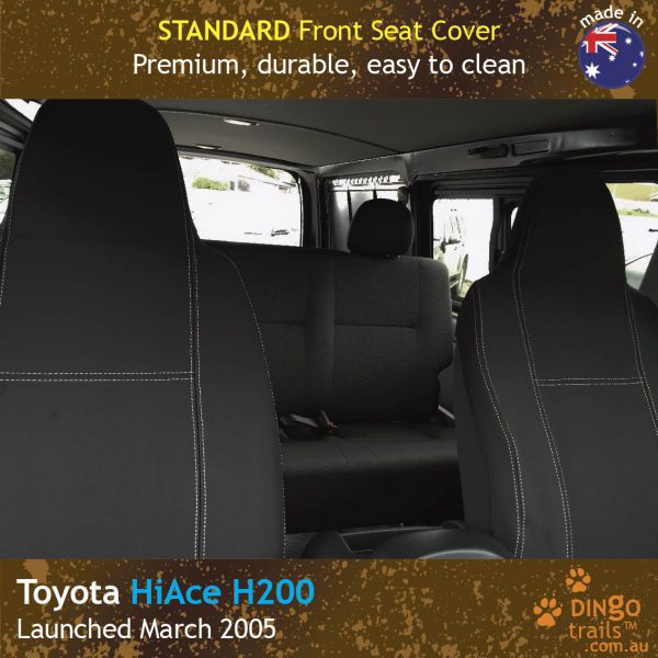 Neoprene FRONT Seat Covers for Toyota Hiace H200