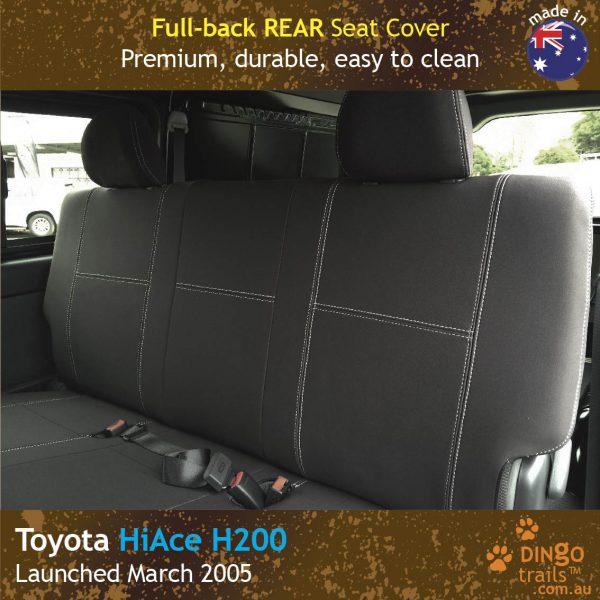 Neoprene Full-back REAR Seat Cover for Toyota Hiace Crew Van H200.