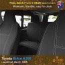 Neoprene FULL-BACK Front & REAR Seat Covers for Toyota Hiace Crew Van H200