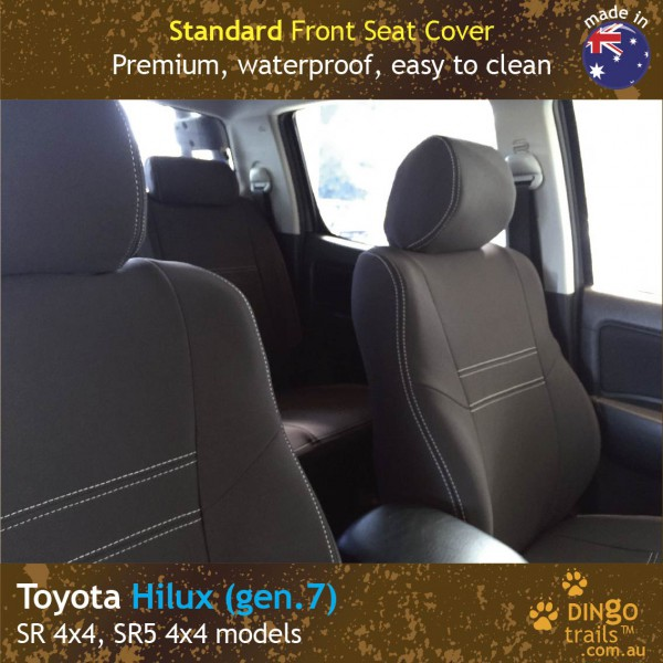 Neoprene FRONT Seat Covers for Toyota Hilux MK.7 – Sports