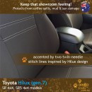 Toyota Hilux Neoprene Seat Covers (TH09)c-01